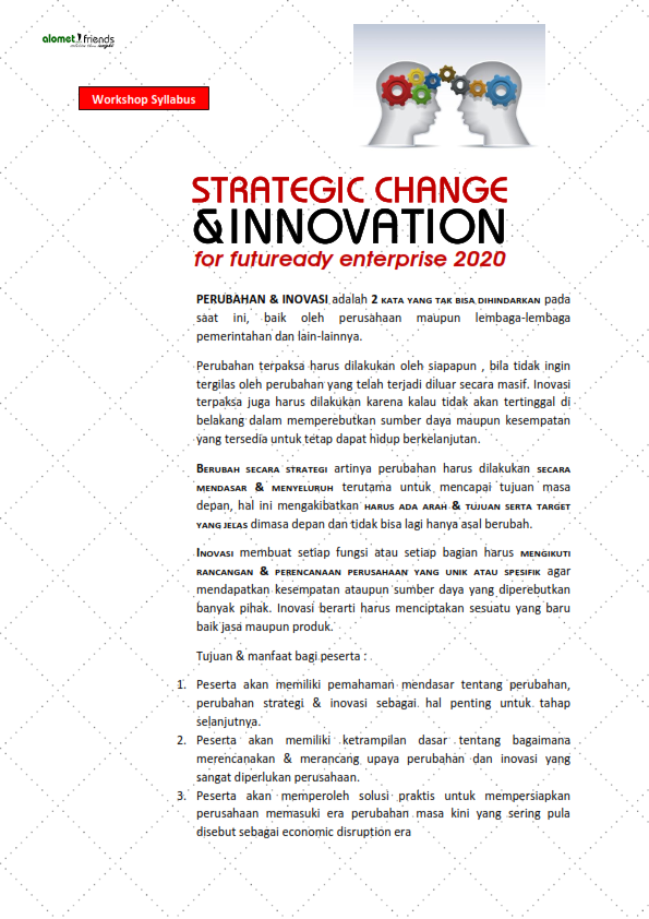 Silabus <br> <b>STRATEGIC CHANGE & INNOVATION</b>