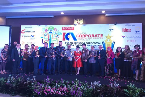 Penghargaan Corporate Secretary & Corporate Communication Indonesia 2016 Di Raih 12 Perusahaan