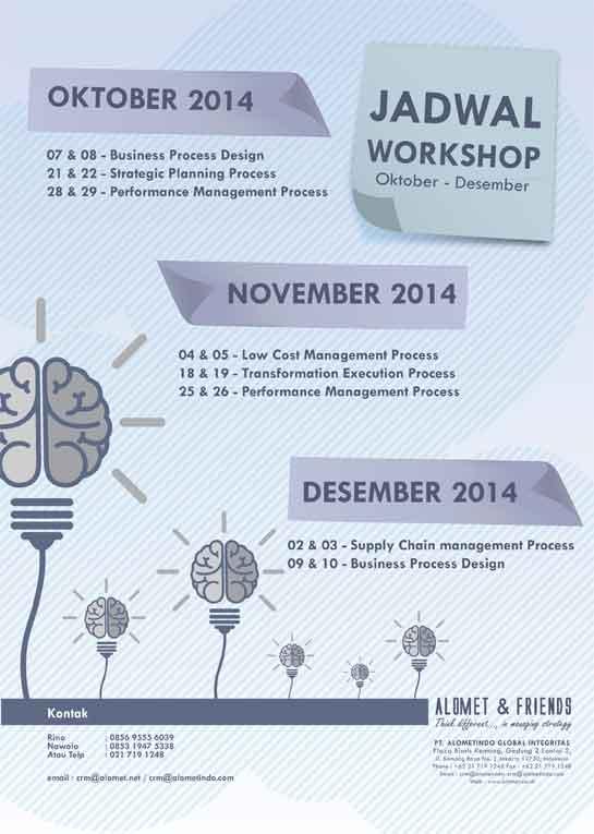 Jadwal Workshop<br> Okt-Des 2014 (Close)